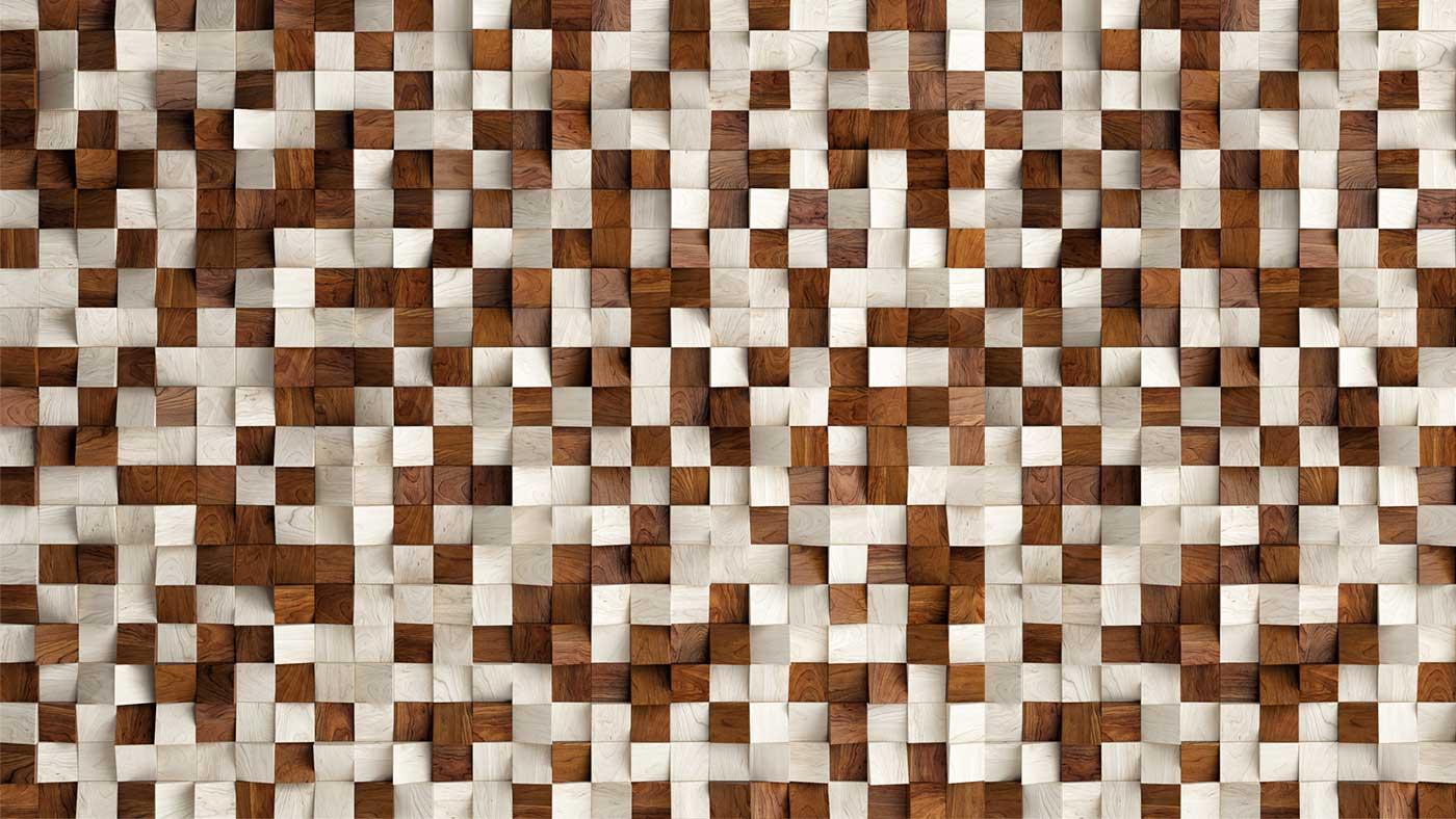 Mosaico imitación madera
